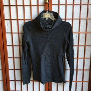 Lululemon XSmall Dark Grey Cowl Neck Sweater